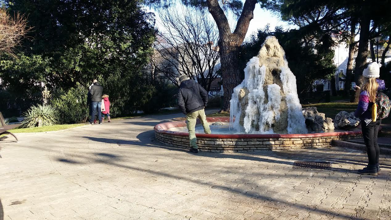 Park s vodoskokom